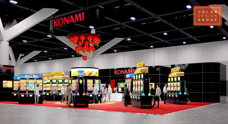 KONAMI__Australasian Gaming Expo_Bespoke Stand_01